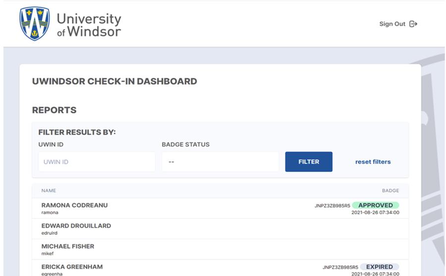 assessment dashboard