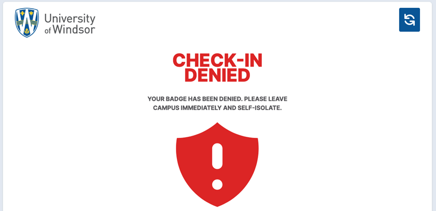 Scanner Response Red Badge Denied
